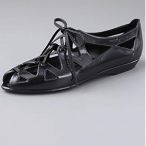 Marc by Marc Jacobs Cutout Lace Up Jelly Flats
